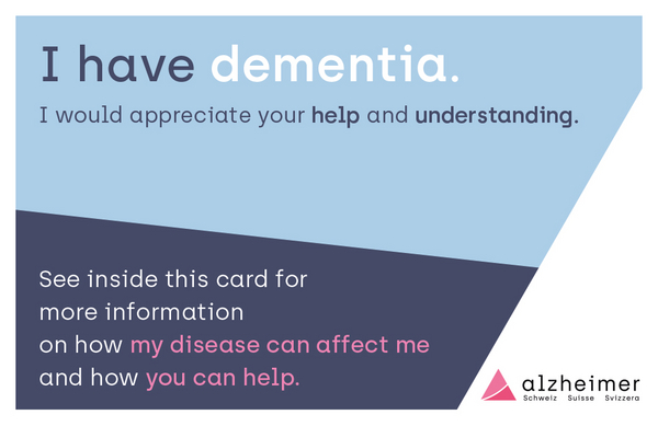 Helpcard for people with dementia